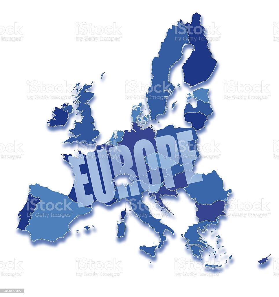 Alle Eu Länder Karte.Europäischen Union Karte Und Alle Länder Auf Weiß Stock Vektor Art
