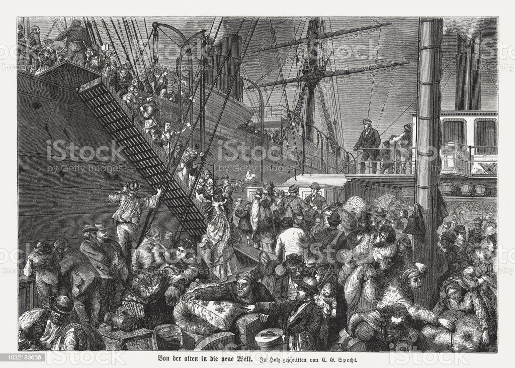 1876 年にアメリカ木の彫刻へのヨーロッパの移民を公開 - 19世紀 ...