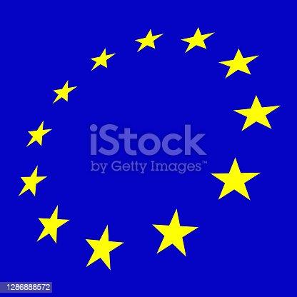 istock European Flag blue background illustration 1286888572