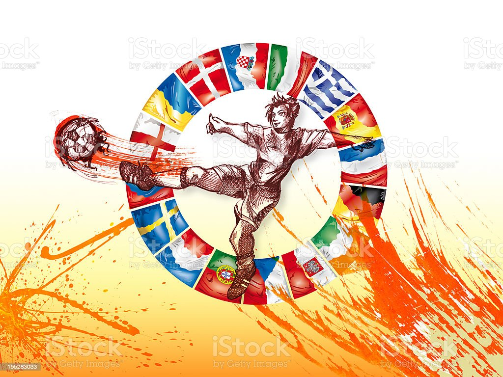 European Football Championship 2012 flags of participants royalty-free european football championship 2012 flags of participants stock vector art & more images of circle