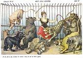 European Miss Crown, satirical cartoon weekly of 1878