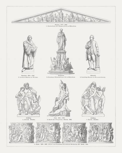 歐洲雕塑藝術, 第十九世紀, 木版畫, 出版于1897年 - martin luther king 幅插畫檔、美工圖案、卡通及圖標