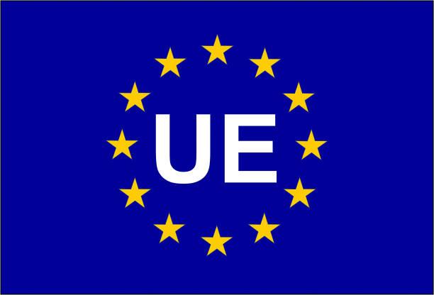 EU-Flagge Ans symbol UE – Vektorgrafik