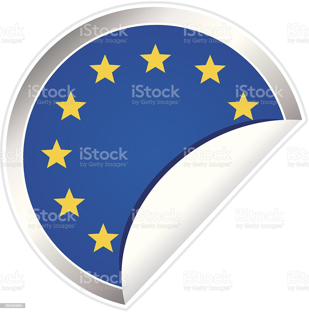 European Union Flag Sticker royalty-free european union flag sticker stock vector art & more images of all european flags