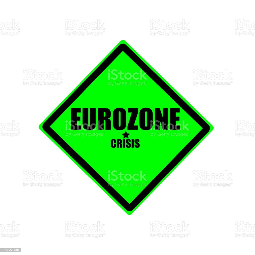 Eurozone crisis black stamp text on green background vector art illustration