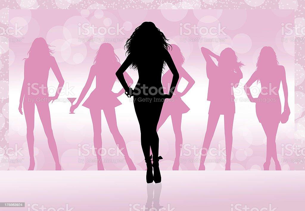 Soirée entre femmes - Illustration vectorielle
