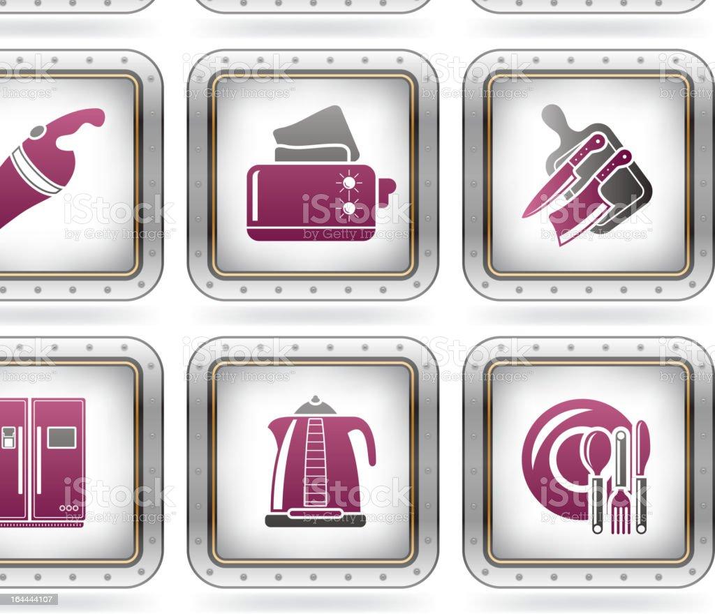 Everyday Kitchen Utensils & Tools royalty-free stock vector art