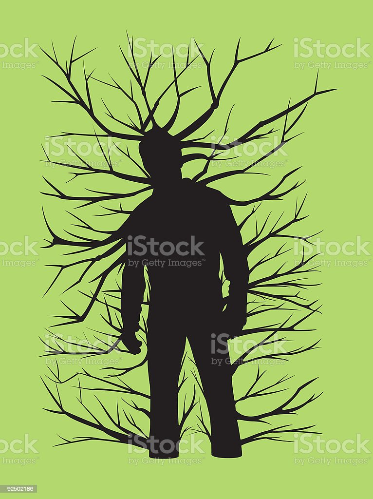 Everyman is a Tree  (Vector) royalty-free everyman is a tree stock vector art & more images of adult