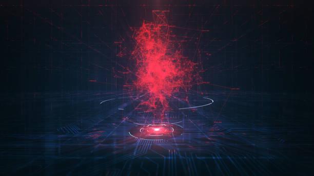 Evil Artificial Intelligence (AI) Konzept. – Vektorgrafik