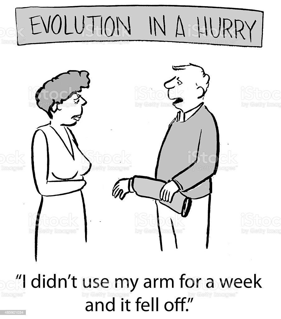 Evolution In A Hurry vector art illustration