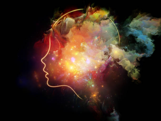 Evolving Human Mind vector art illustration