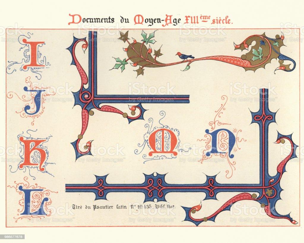 Voorbeelden Van Middeleeuwse Decoratieve Kunst 13e Eeuw
