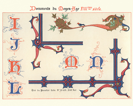 Examples of Medieval decorative art 13th Century