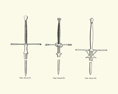 Examples of two handed medieval swords, English, 15th Century