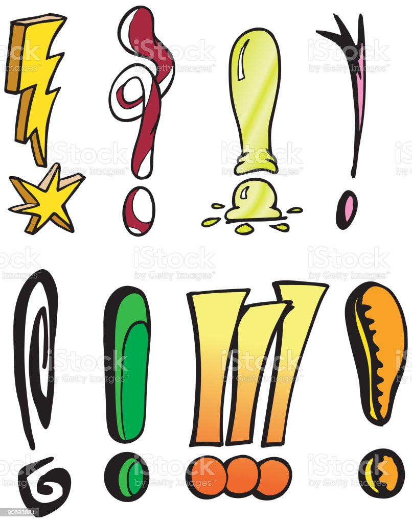 Exclamation Points!!! royalty-free stock vector art