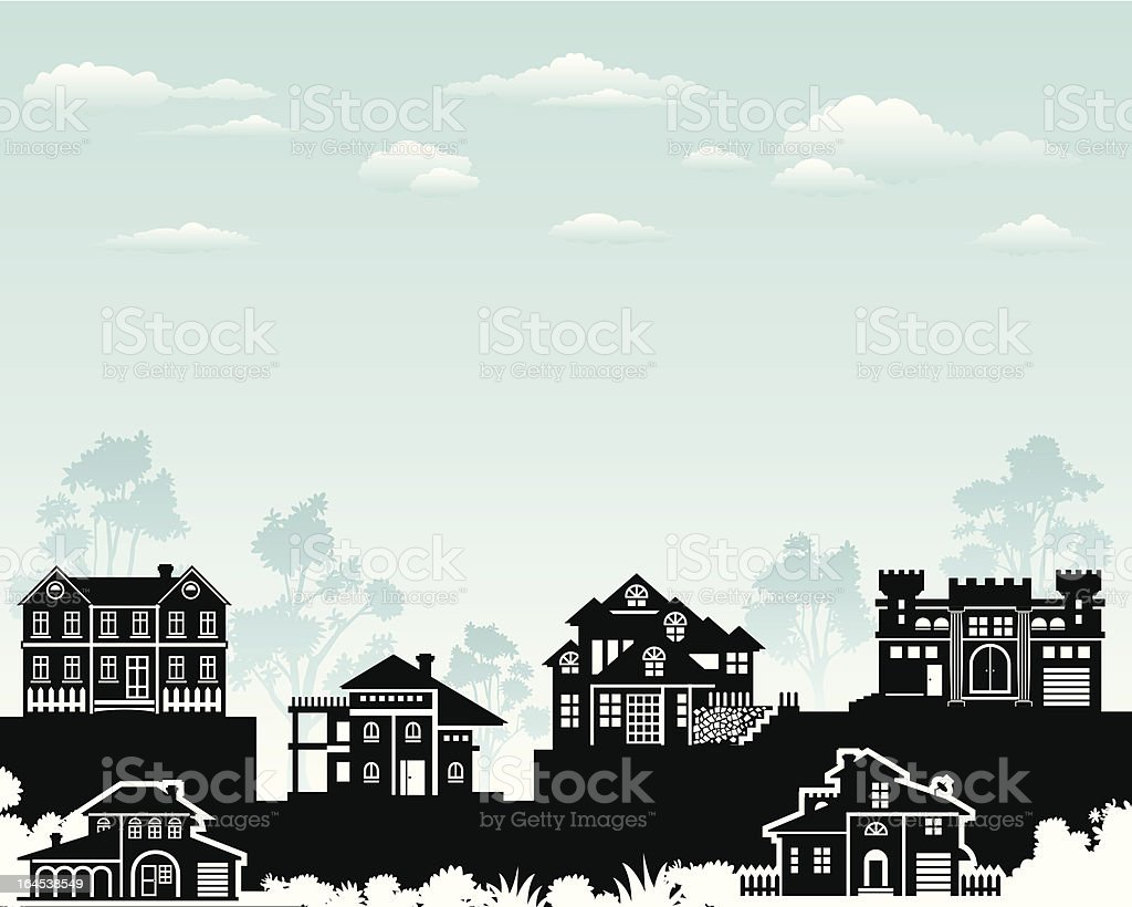 Exclusive Living vector art illustration