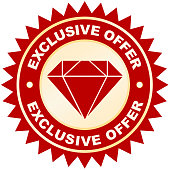 Exclusive Offer label or badge or sticker isolated image on white background
