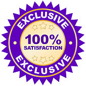 Exclusive Offer product label or badge or sticker isolated image on white background