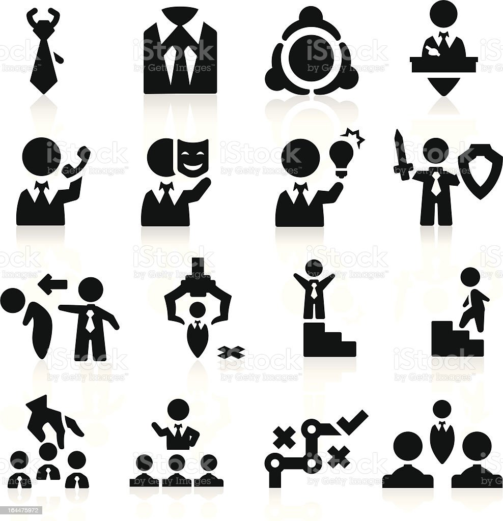 Executive icons set Elegant series royalty-free stock vector art