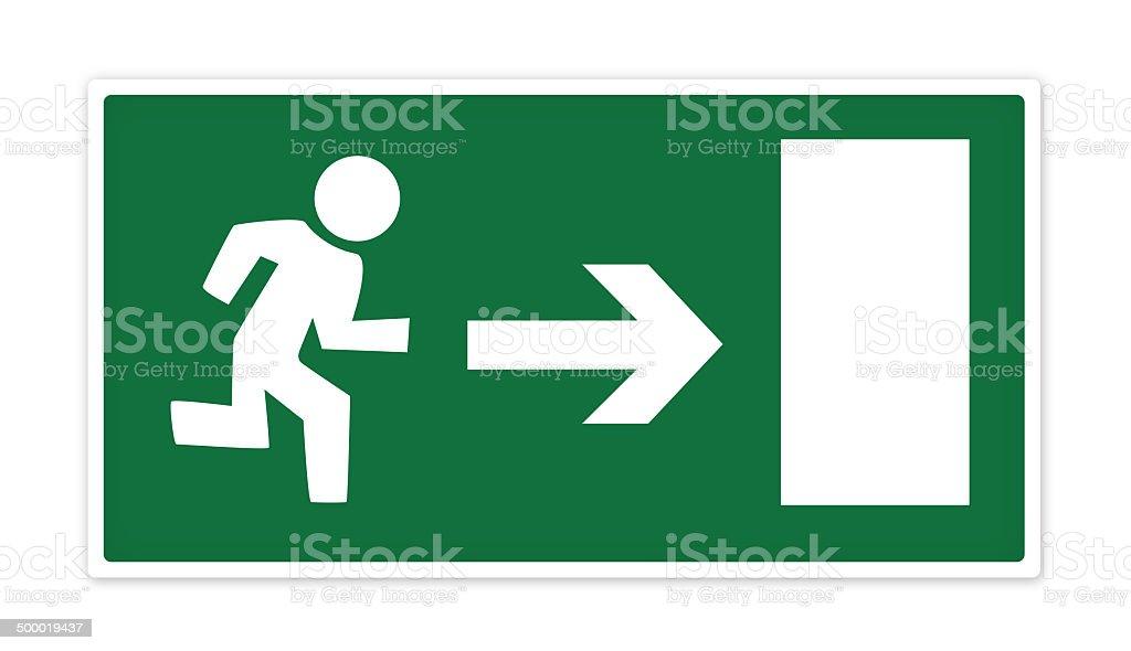 Die Ausfahrt Zeichen-XL - Lizenzfrei Abschied Stock-Illustration