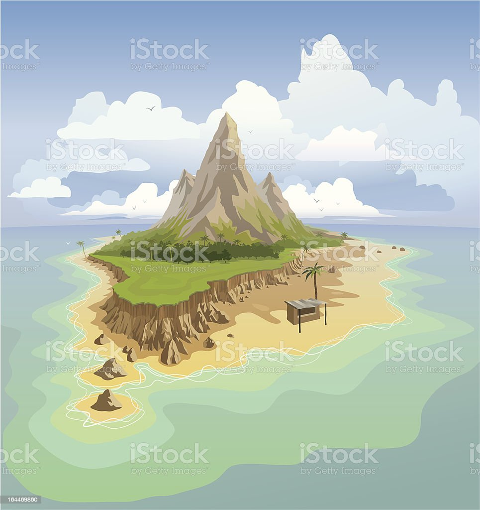 Exotic island royalty-free exotic island stock vector art & more images of adventure
