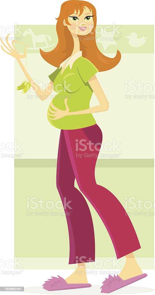 Expectant Mother vector art illustration