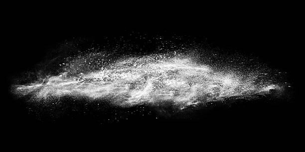Exploding white line Abstract exploding white powder isolated on black background. cocaine stock illustrations