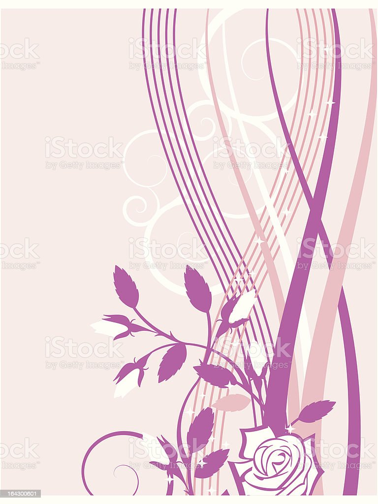 Exquisite Rose Background royalty-free stock vector art