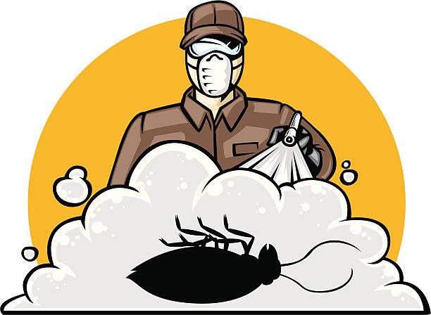 exterminator vector art illustration