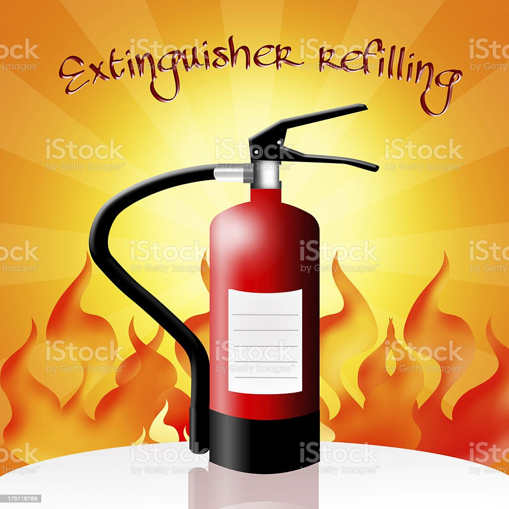 Extinguisher refilling royalty-free stock vector art