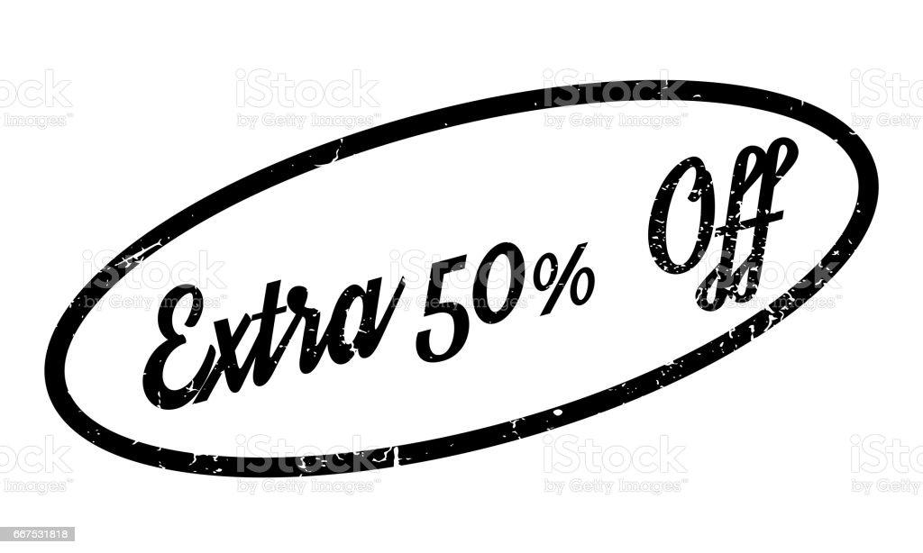 Extra 50 Off rubber stamp extra 50 off rubber stamp - immagini vettoriali stock e altre immagini di avanzi royalty-free
