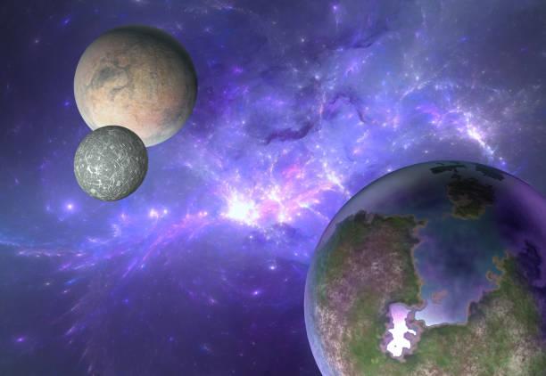 bildbanksillustrationer, clip art samt tecknat material och ikoner med utomjordiska system nebulosa - earth from space