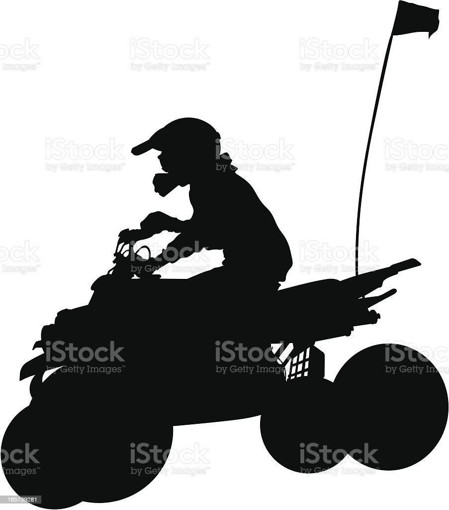 Extreme off-roading vehicle four wheeler vector art illustration