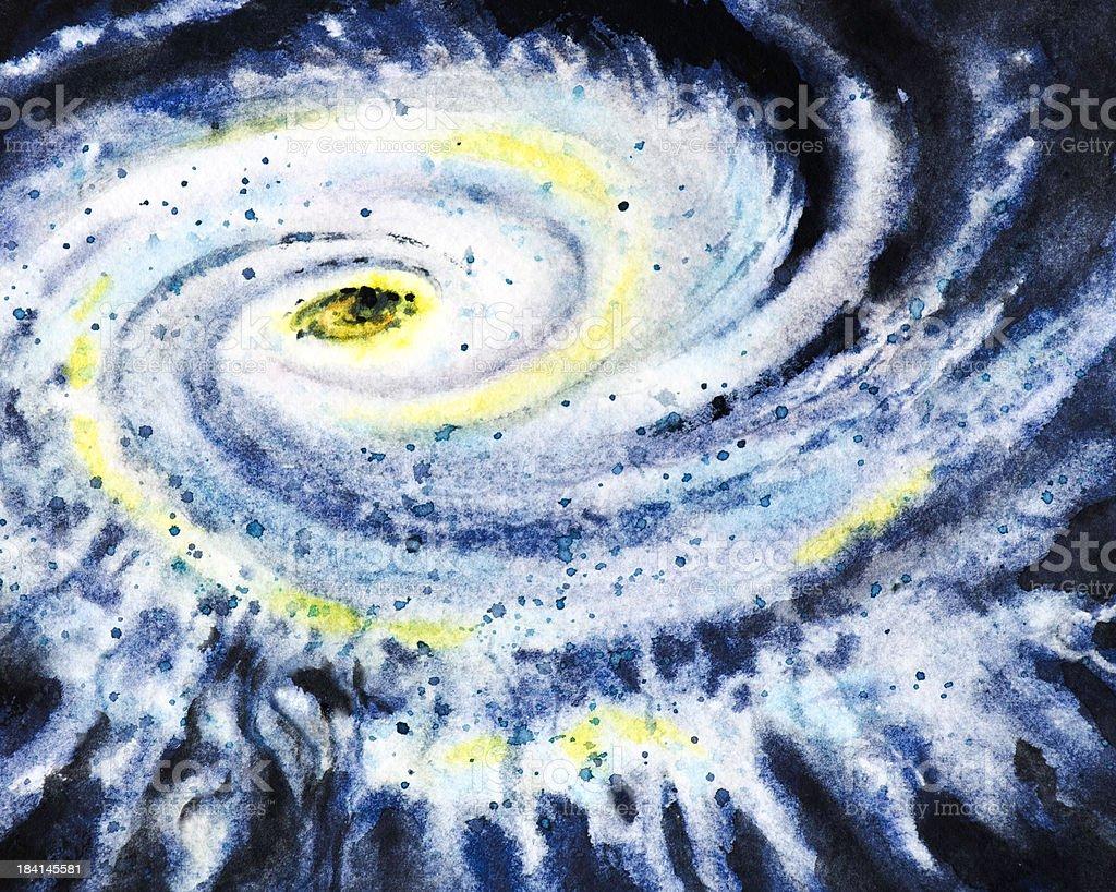 Eye of a Violent Storm vector art illustration