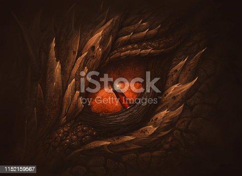 istock Eye of fantasy dragon 1152159567
