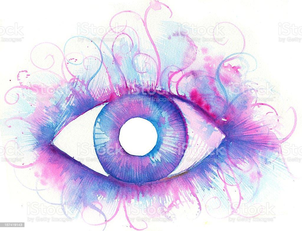 eye of the beholder vector art illustration