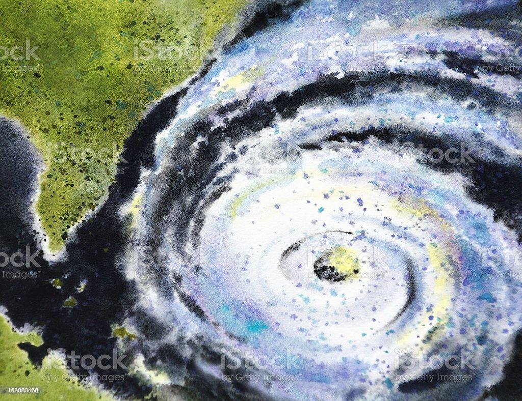 Eye Of The Hurricane vector art illustration