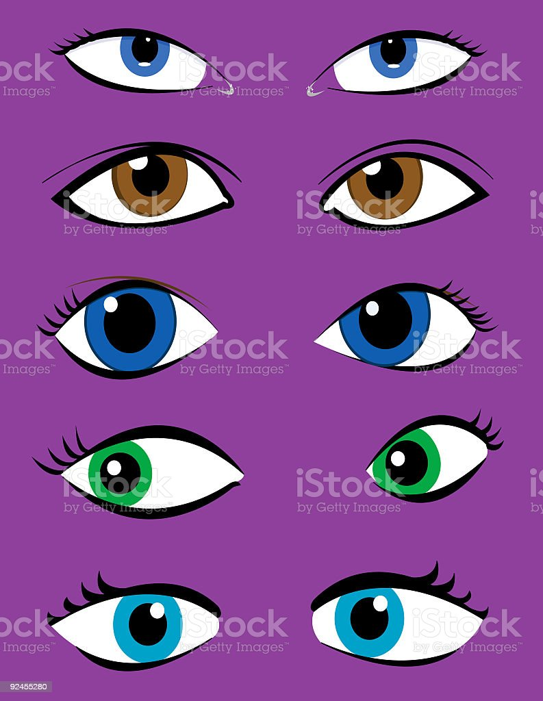 eyes royalty-free stock vector art
