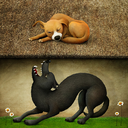 Fable about the Wolf and the Dog.