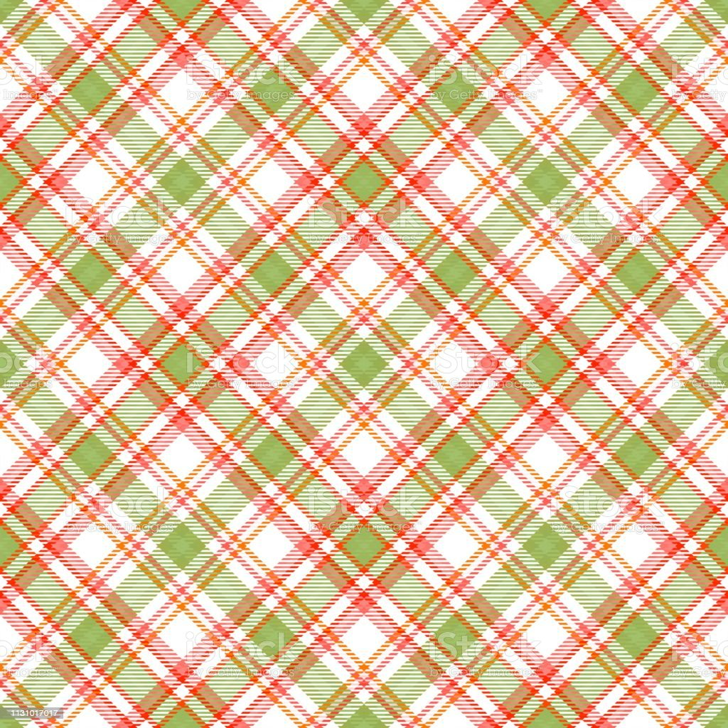 Fabric Diagonal Tartan Pattern Textile Seamless Irish Stock