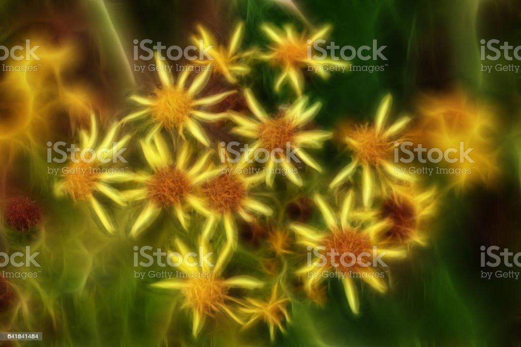 Fabulous bouquet of yellow flowers vector art illustration
