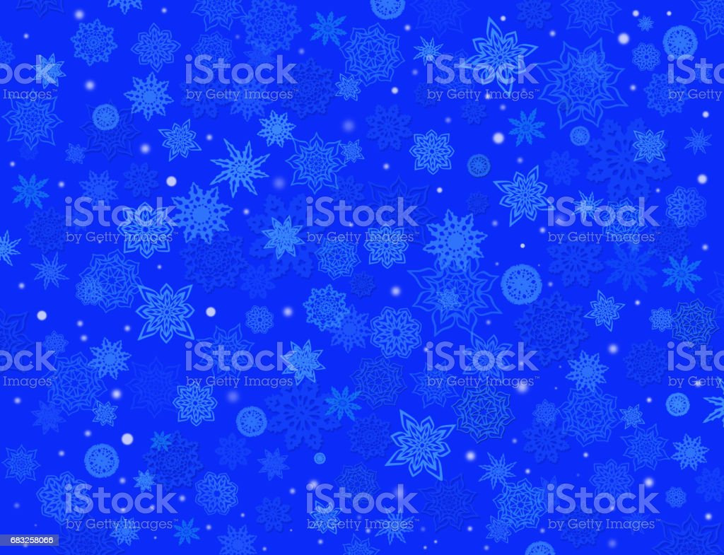fabulous snowflakes on the blue background royalty-free fabulous snowflakes on the blue background stock vector art & more images of abstract