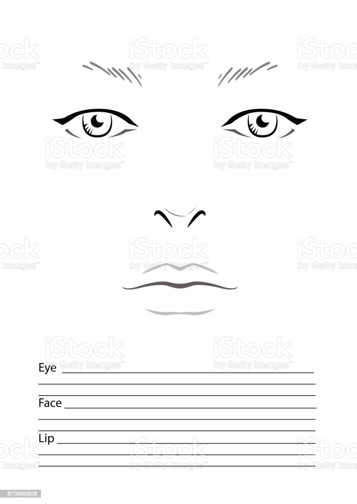 blank face template for makeup artist pdf