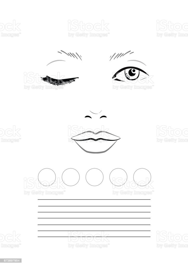 Face chart makeup artist blank template stock vector art more face chart makeup artist blank template royalty free face chart makeup artist blank maxwellsz