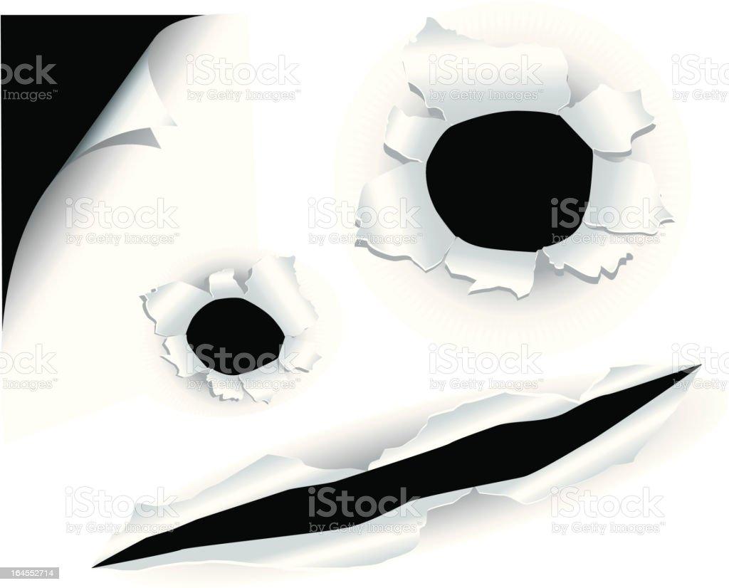 顔の紙の穴 ベクターアートイラスト