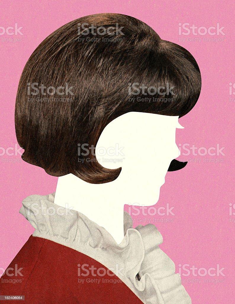 Faceless Brunette Woman royalty-free faceless brunette woman stock vector art & more images of adult
