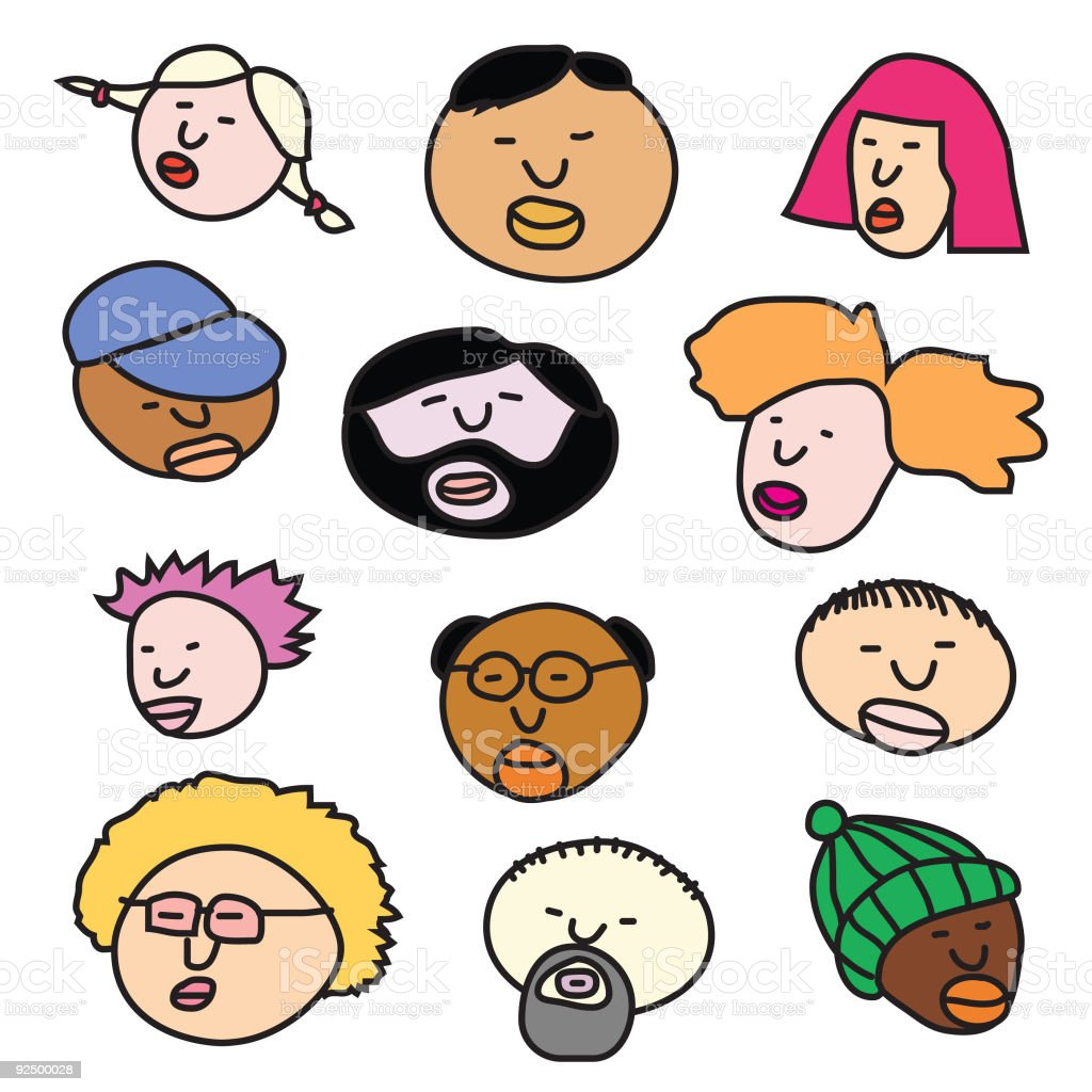 faces (vector) royalty-free faces stock vector art & more images of active seniors