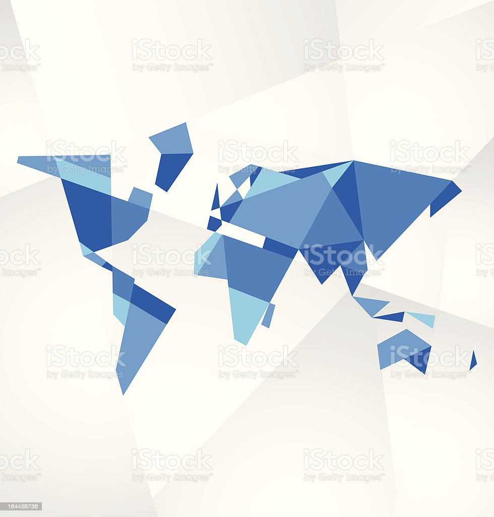 Facet world map vector royalty-free stock vector art