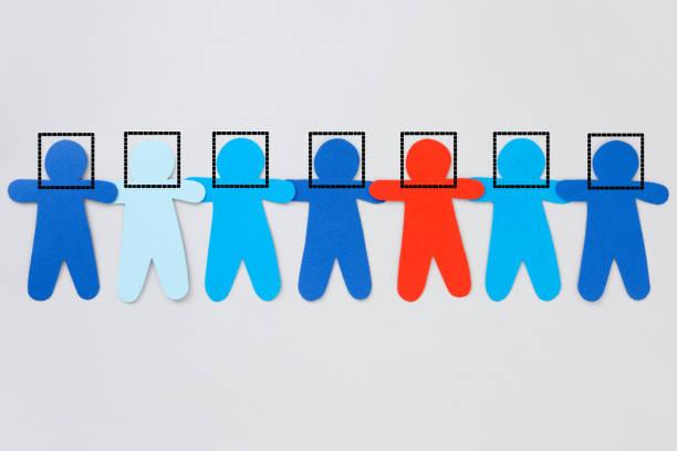 facially recognized boys - facial recognition stock illustrations