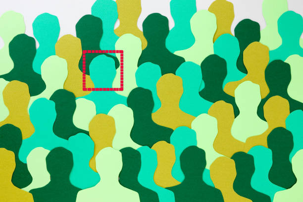 facially recognized green man - facial recognition stock illustrations
